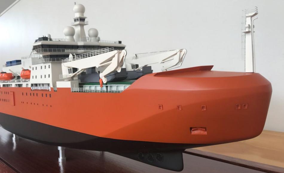 Das Schiff wird topmodern ausgerüstet sein und verschiedenste Geräte für Forschungszwecke an Bord haben. Bild: Eliza Grey