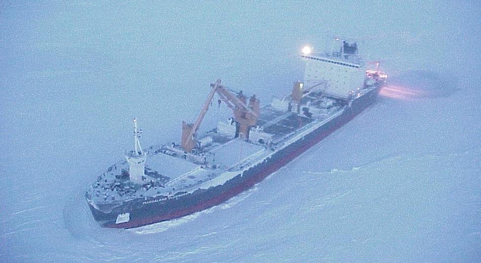 Die «Magdalena Oldendorf» sollte im Auftrag des russischen Forschungsinstituts «Arctic and Antarctic Research Institute» mehrere Stationen beliefern und Personal austauschen. Daraus wurde dann nichts.