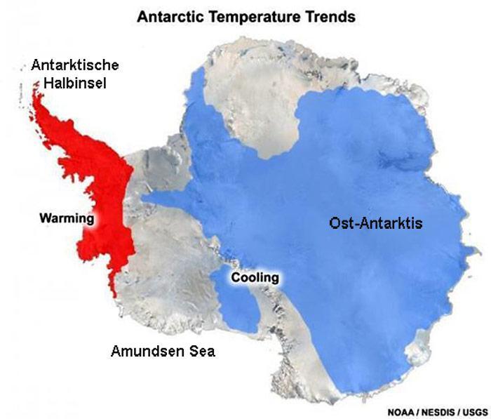 Antarktis-Temperaturtrend