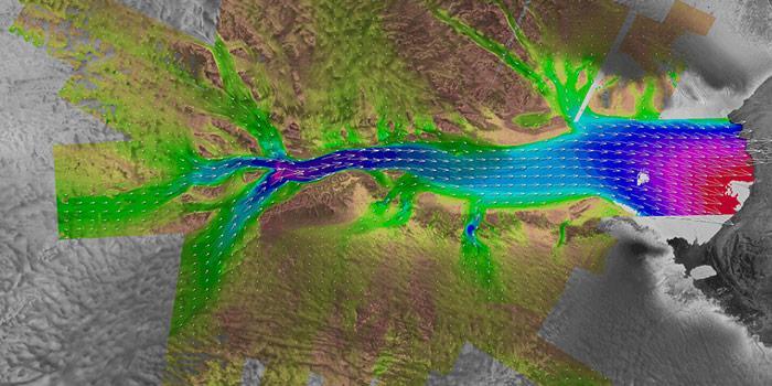 Lambert Gletscher Fliessbewegungen