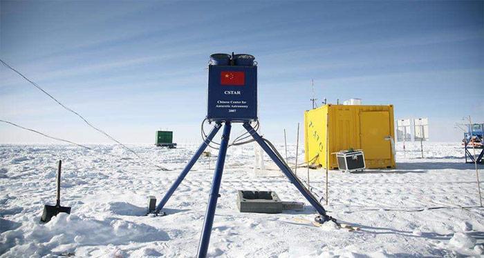Teleskop in der Antarktis