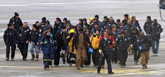 Evakuierte Forscher