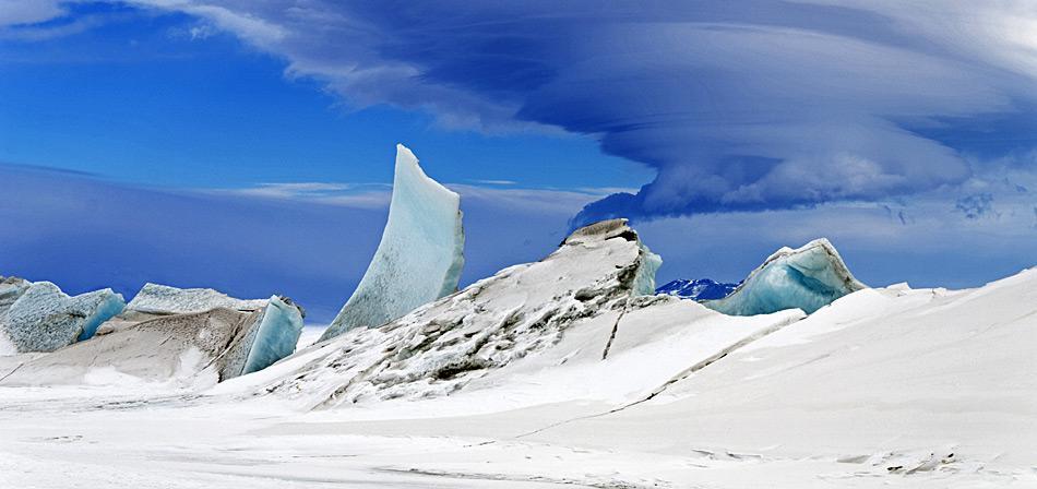 Treibhausgas-Ausstoss könnte das Eis unkontrollierbar schmelzen lassen