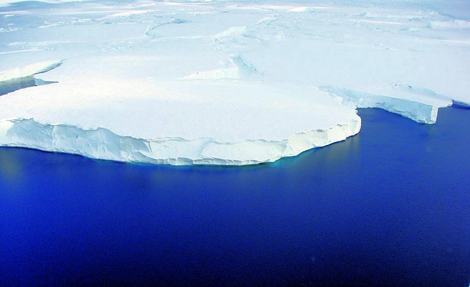 Die heutige Gletscherfront des Totten Gletschers (Foto: Tas van Ommen)