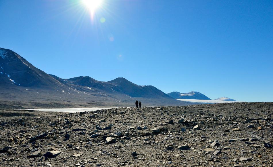 Der trockenste und ungastfreundlichste Ort Antarktikas sind die Dry Valleys im Rossmeergebiet, nahe der Station McMurdo. Die klimatischen Bedingungen sind so hart, dass sich nicht einmal Eis bilden kann. Daher sind die Täler die grössten eisfreien Gebiete des gesamten Kontinents. Bild: Michael Wenger