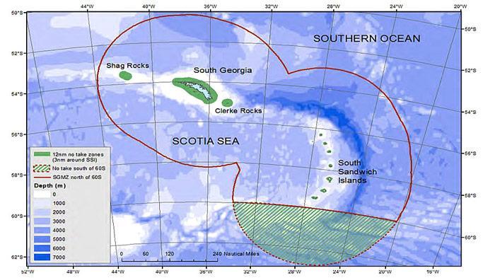 Karte Schutzgebiet von South Georgia