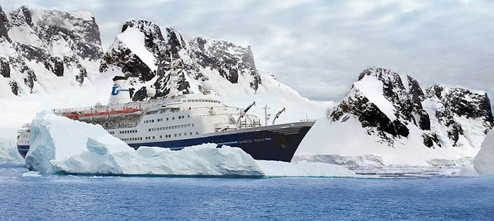 Eine Nummer zu gross. Die «Marco Polo» mit über 850 Passagieren darf seit dem 1. August 2011 nicht mehr in der Antarktis verkehren.