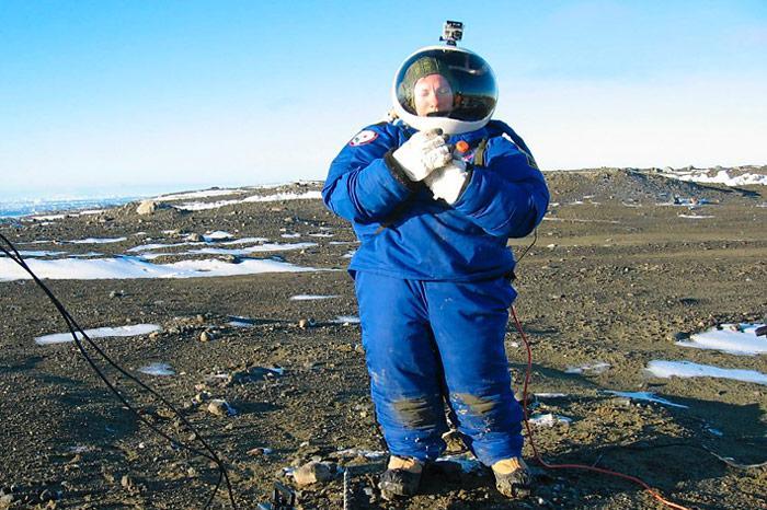 Marsanzug in der Antarktis