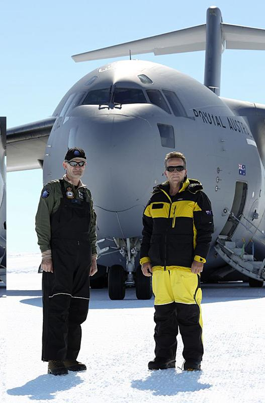 Generalmajor Richard Lennon und AAD-Direktor Dr. Nick Gales Foto: David Said /RAAF