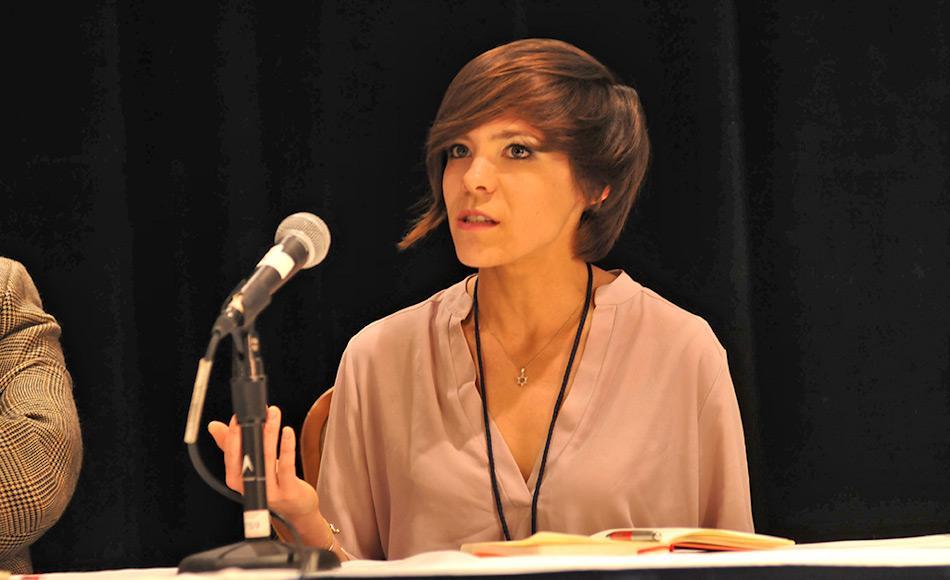 Victoria Herrmann ist eine Gates-Stipendiatin am Scott Polarforschungsinstitut in Cambridge, GB, wo sie zurzeit ihren Doktortitel in politischer Geographie der Arktis macht. Sie ist die Leiterin und Präsidentin des Arctic Institute. Bild: Historyabovewater.org