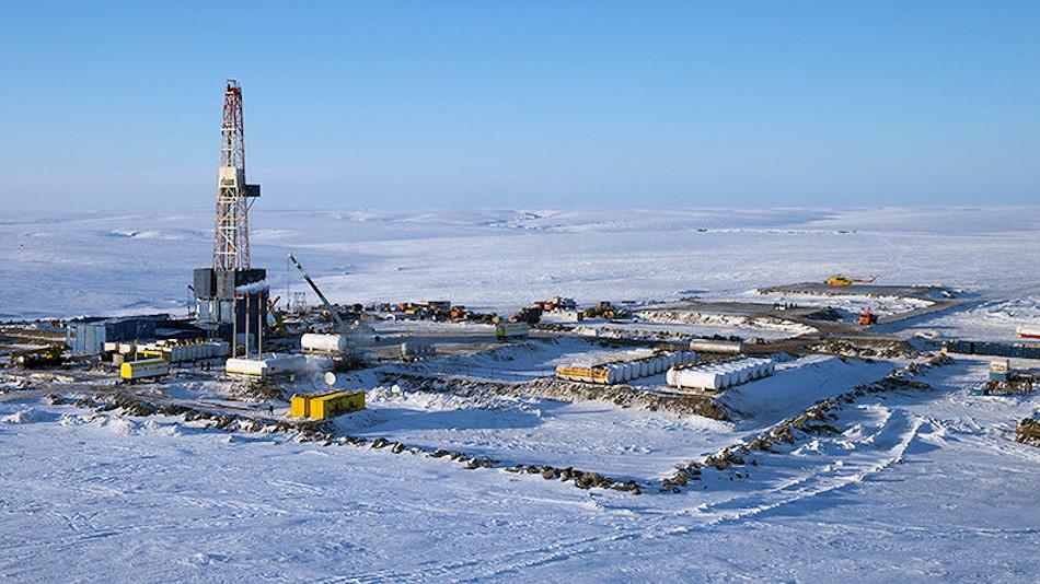 Die arktischen Ölmengen entlang der russischen Nordmeerküste gehören zu den grössten noch nicht ausgebeuteten Quellen weltweit. Trotz des niedrigen Preisstandes hat Russland die Förderung in diesen Gebieten ausgeweitet. Bild: Sputnik