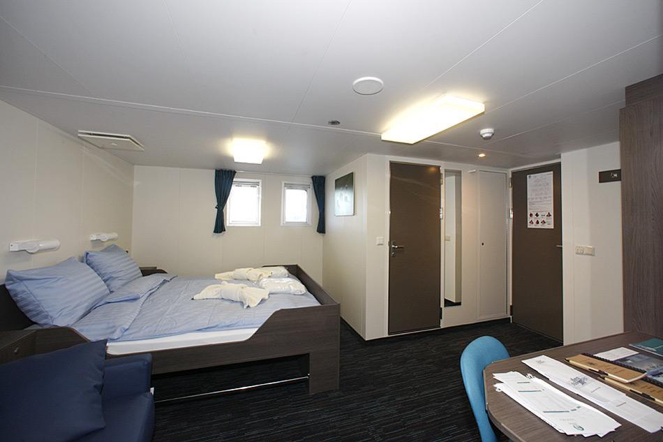 Die neu umgebaute Superior-Kabine auf der MV «Ortelius» ist sehr geräumig und besticht durch einen freundlichen Auftritt.