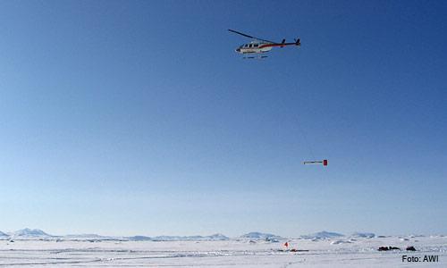 Hubschrauber-Sonde