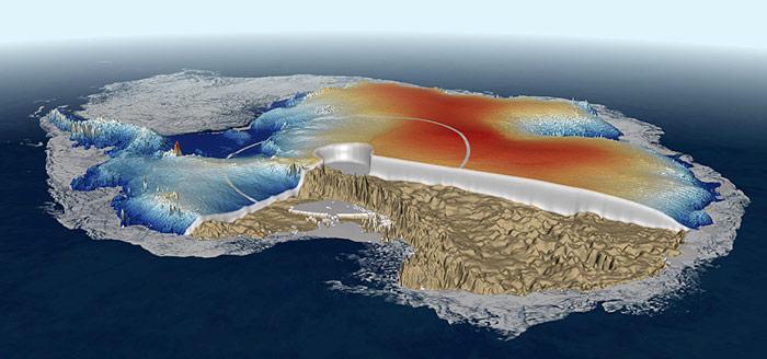 Cryosat Antarktis