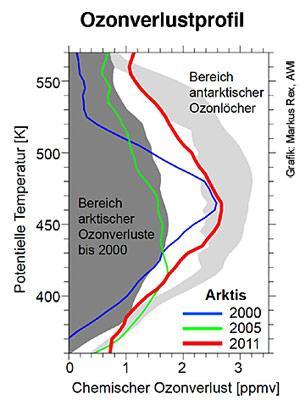 Ozonverlust Arktis