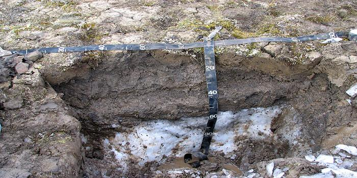 Tiefenmessung Permafrost