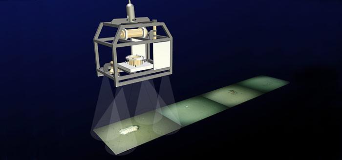 Das ferngesteuerte Kamera-System OFOS (Ocean Floor Observation System) machte alle 30 Sekunden eine Aufnahme vom Boden.