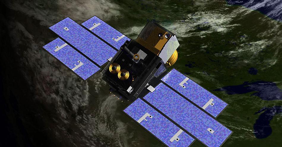 Der ICES-Satellit mass die Eisdicke in der Arktis bis im Frühling 2008 bis auf 37 Zentimeter genau