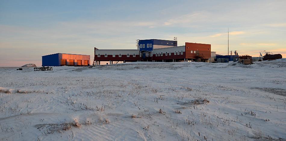 Die neue Samoylov Station im November 2012. Foto: Mikhail Grigoriev.