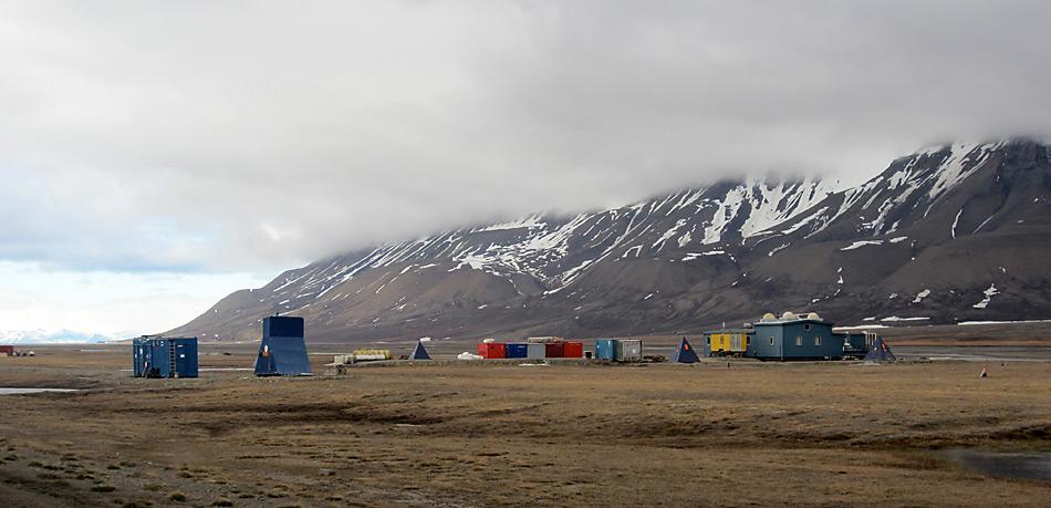 Im Adventdalen, 5 Kilometer ausserhalb von Longyearbyen, soll in mitten der Natur das CO2 Lager entstehen.