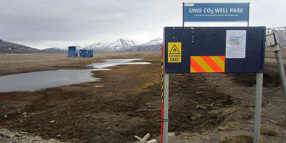 Warntafeln machen es deutlich, hier entsteht das CO2 Lager.