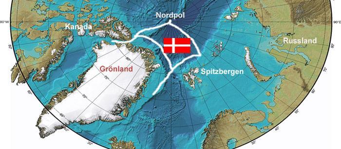 Dänemark Arktis Karte