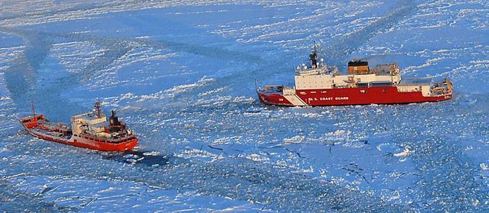 Renda und Healy im Eis