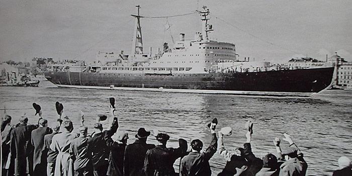 Die «Lenin» wurde 1959 als erstes nicht-militärisches, nuklearbetriebenes Schiff in Dienst gestellt.