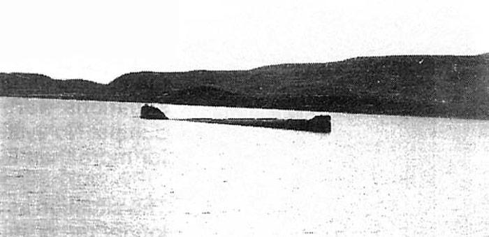 Im Herbst 1982 wurde das U-Boot K-27 östlich der Insel Nowaja Zemlija in rund 30 Meter Tiefe versenkt.