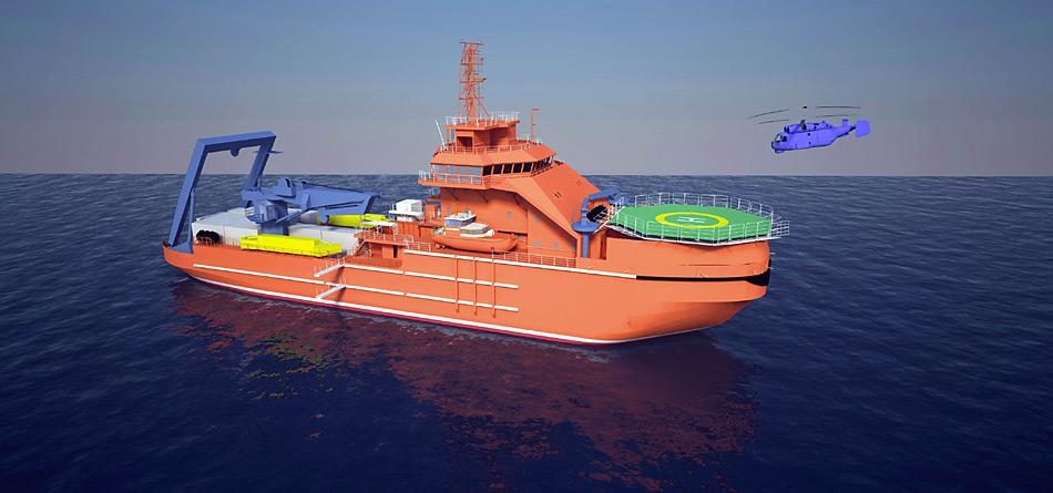 Die zwei eisbrechenden Rettungsschiffe kosten zusammen 150 Millionen Euro und sollen ab 2015 für Rettungseinsätze und Patrouillen auf der nördlichen Polarmeerroute im Einsatz stehen.