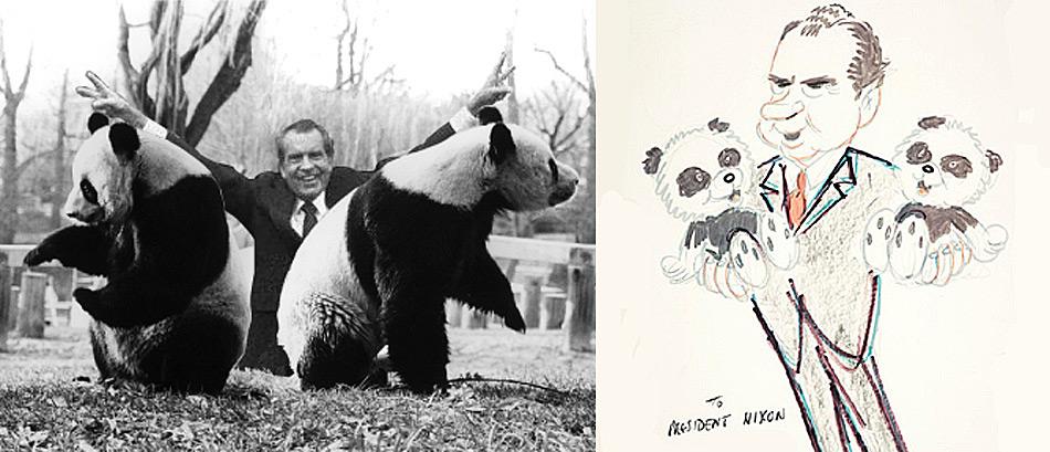 Der Ursprung der «Panda-Diplomatie» der jüngeren Zeit wurde ab 1972, als US-Präsident Nixon bei seinem Besuch in China weilte wieder aufgenommen.