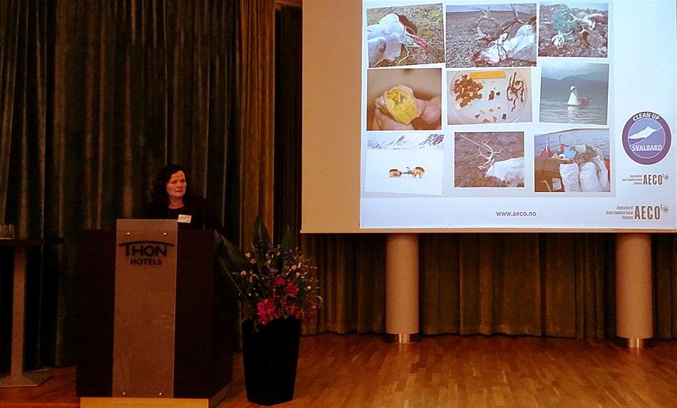 Die Geschäftsführerin Frygg Jørgensen stellt die aktuellen Aktivitäten der AECO am diesjährigen Treffen in Oslo vor. Bild: Ilja Leo Lang