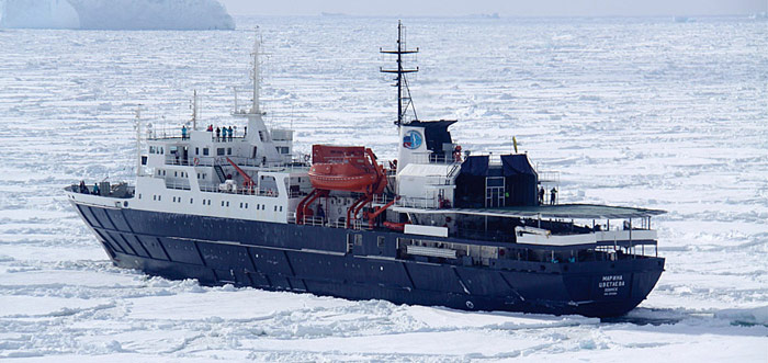 MV Ortilius in der Weddell Sea
