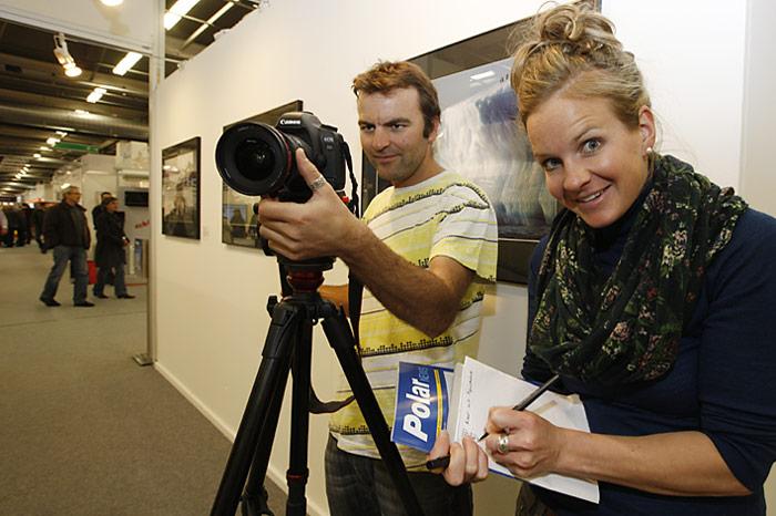 Simon Usteri und Eva Forster im Einsatz für PolarNEWS.