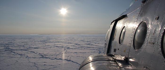 MI-8 Flug zum Nordpol